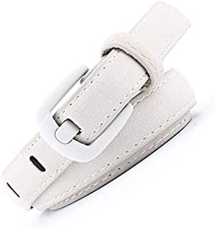 SGJFZD Women's Trendy Fashionable Belts Decorated with Wild Belts Wide Needles Painted Buckles Rich Velvet Leather Belts (Color : White, Size : 110cm)