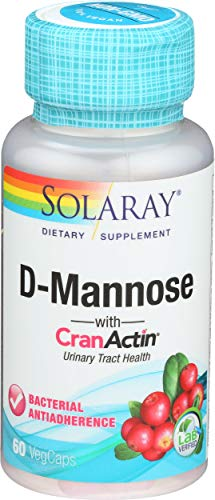 Solaray, D-Mannose with Cranactin, 60 Count