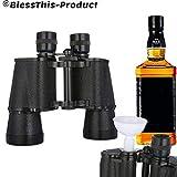 Juntful Prism/áticos Forma Agua Botella Bebida Flask Dos Lados Contiene Secreto Licor Mordaza
