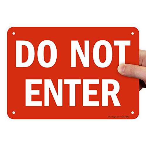 SmartSign 'Do Not Enter' Sign | 7' x 10' Plastic