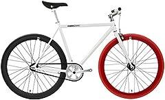 FabricBike- Bicicleta Fixie, piñon Fijo, Single Speed, Cuadro Hi-Ten Acero, 10Kg