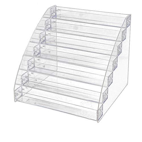 Kamena Présentoir à vernis à ongles 7 niveaux en acrylique transparent