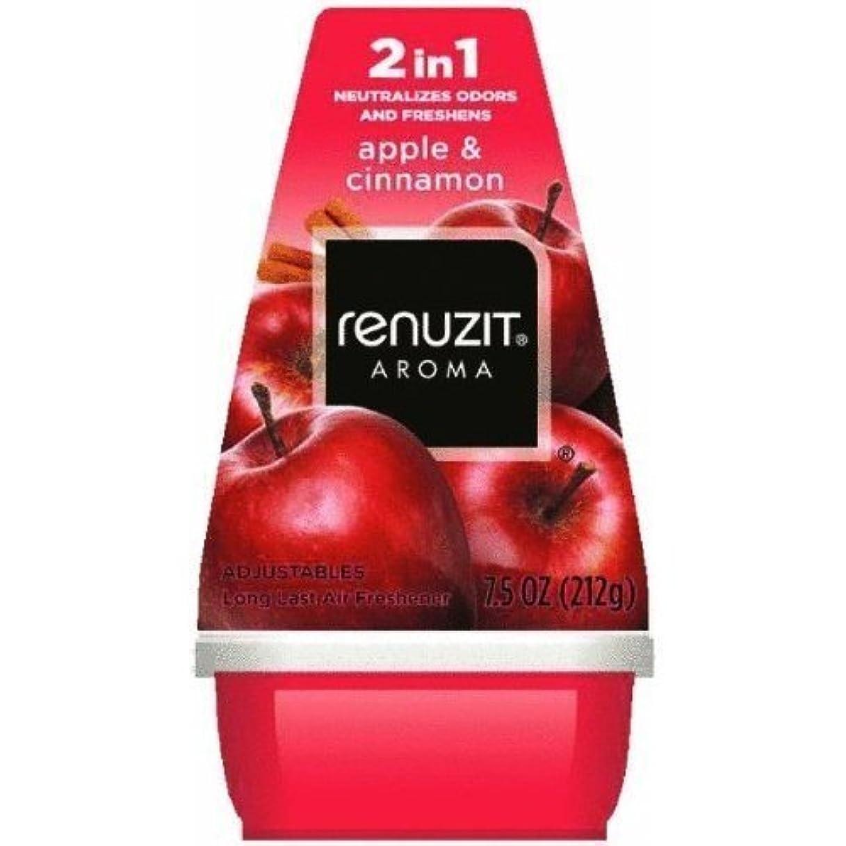 困惑した入口略奪リナジット[Renuzit] エアーフレッシュナーアップル&シナモン198g 芳香剤