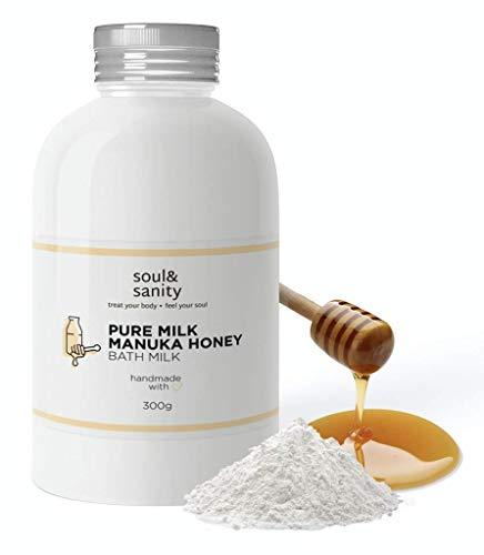 Bademilch mit Manuka Honig - revitalisierende Hautpflege | Badezusatz | Badepulver aus frischer Milch und Honig | frei von Tierversuchen | 300g (Milch & Honig)