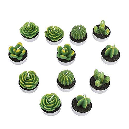 12 Stücke Handgemachte Kerze Mini Kerzen Teelicht Kaktus Kerze Sukkulenten Hause Flammenlose Geschenke Dekoration Spa Hochzeitszeremonie Geschenke