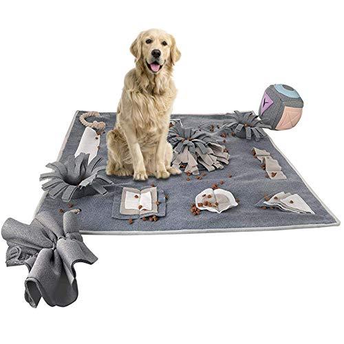 ACEMIC Snuffle Mat para Perros, Alfombra Olfativa Esterilla De Alimentación para Esterilla Olfatear para Mascotas Lavable Y Plegable Juguete Interactivo para Mascotas Que Promueve La Búsqueda 72×72Cm