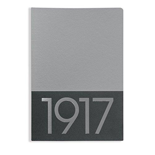 Leuchtturm 355535 - Cuaderno (Adulto, 32 hojas, Plata, Monótono, A5, Brillante)