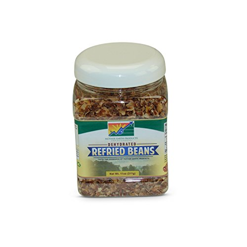 Mother Earth Products Dehydrated Fast Cooking Refried Bean Mix, quart Jar, 11 Ounce (Pack of 1)
