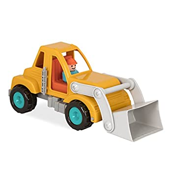 Battat Front End Loader Truck with Working Movable Parts and 1 Driver - Toy Trucks for Toddlers 18m+ Yellow