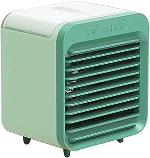 Actualizado Silencio refrigerador de aire del ventilador del humidificador, USB recargable, uso inalámbrico, pequeño y cómodo, rápido enfriamiento, Smart 3 del engranaje, de amplio ángulo de suministr