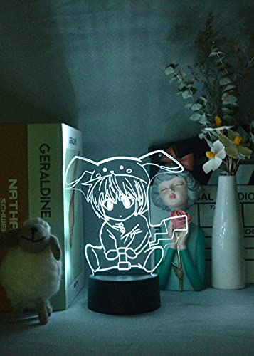 Luz nocturna 3D anime para niños, anime linda chica noche luz enchufe en la habitación decoración LED lámpara colgante lamparas decoración escritorio para cumpleaños o regalo de Navidad