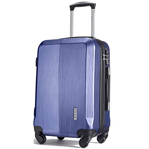 Shaik® Professional, SIN Größe M Handgepäck Boardgepäck Koffer | 32 Liter | Größe L34 x B23 x H50cm | Gewicht: 3,26 kg | TSA Schloss | SH009 (Blau)