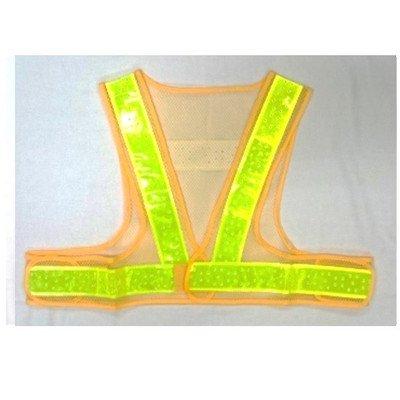 安全・サイン8 安全ベスト ショート丈夏用サマーベスト 黄色メッシュ黄色(反射)ライン 5着セット SV50-YL-S 大きな網目+穴あき反射テープ