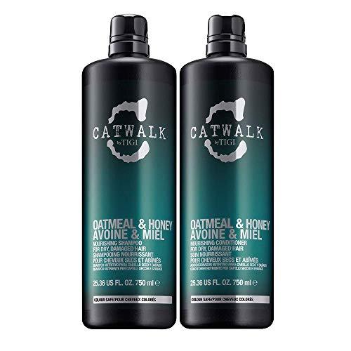TIGI Catwalk Oatmeal & Honey Shampoo & Conditioner per Capelli Secchi E Danneggiati - 1500 g