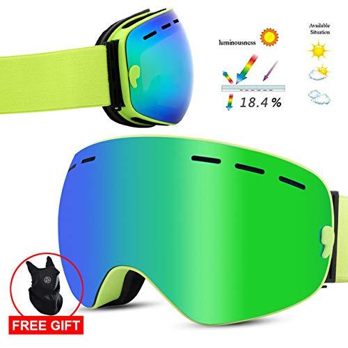 DFGDH Motorrad Schutzbrille Snowboard Skibrille Double Layers Skibrille Brille Für Skischutz Schnee Skibrille Anti-Fog Ski Maske