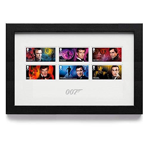 James Bond: gerahmte Briefmarken