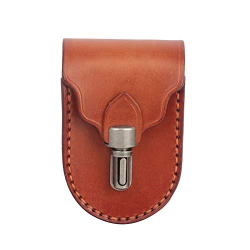 LBJN Mini Bolsa de Pelotas de Golf portátil, Soporte en Camiseta, 2 Bolas, Soporte para marcadores, cinturón de Cintura de Cuero Genuino