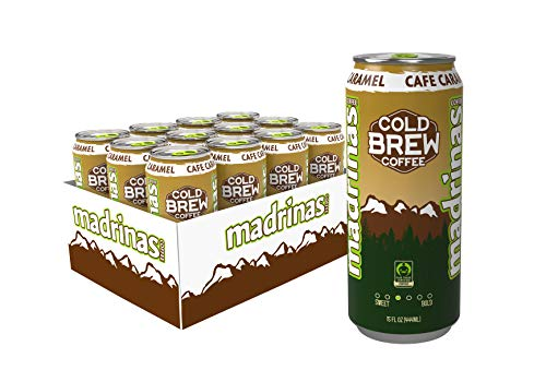 Madrinas Cafe Caramel Fair Trade Cold Brew Coffee, 15 Fl Oz (Pack Of 12)