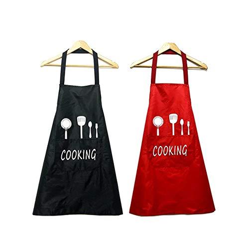 Sprießen 2Pack Schürze,Wasserdicht Kochschürze mit Taschen,Verstellbarem Küchenschürze,Grillschürze,latzschürze,Cafe,Restaurant,Küchenschürze für Frauen Männer Chef