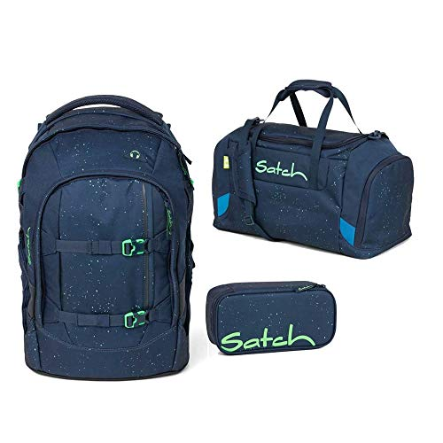 Satch Pack Space Race 3er Set Schulrucksack, Sporttasche & Schlamperbox