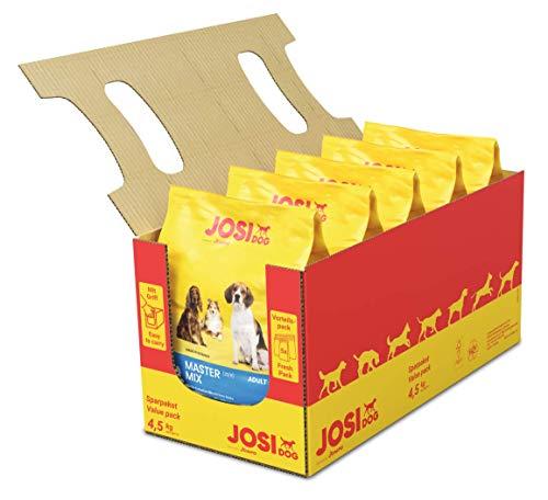 JosiDog Master Mix (5 x 900 g) | Hundfoder för normala aktiva hundar | Premium torrfoder för vuxna hundar | drivs av JOSERA | 5-pack