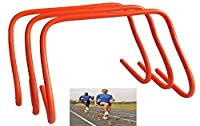 """HCE Agility Speed Training Hurdles 6""""x18"""" Multi-Purpose Plyometric Training Hurdles, CrossFit, WOD, Soccer, Football, Lacrosse, Cricket Athletic Sports and Games - Ideal for Pets, Kids and Adult - Orange Thick PVC Set of 3 (6-Inch x 18-Inch) from China"""