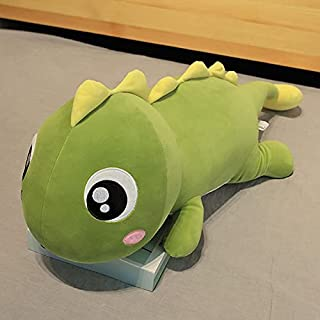 80/100 cm dinosaurus kussen knuffel pop slapen schattig bed super zachte pop pop mooi cadeau voor meisjes 100 cm geel teru...