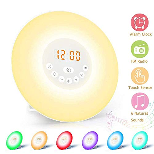 alarma y funci/ón de repetici/ón sonidos naturales Alarma de Luz Ecomed WL50E radio intensidad de luz en 10 niveles