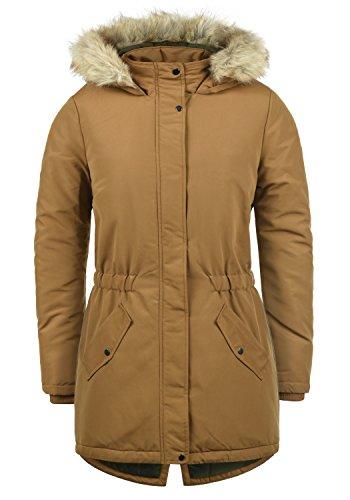 ONLY Paola Damen Jacke Parka Mantel warme Übergangsjacke gefüttert mit Kapuze, Größe:L, Farbe:Rubber