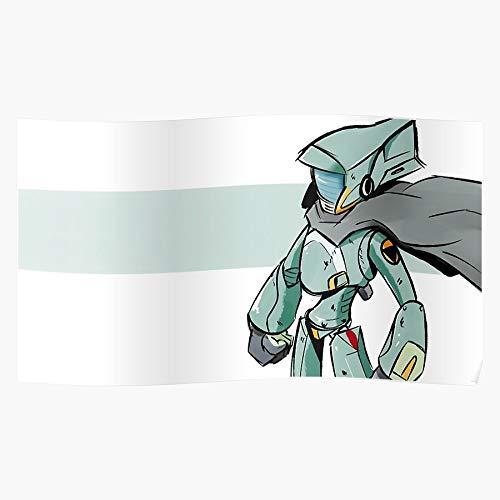Robot Kuri Furi Cartoon Show FLCL Canti Tv Anime I Fsganburton - The Most Impressive and Stylish Indoor Decoration Poster Available Trending Now