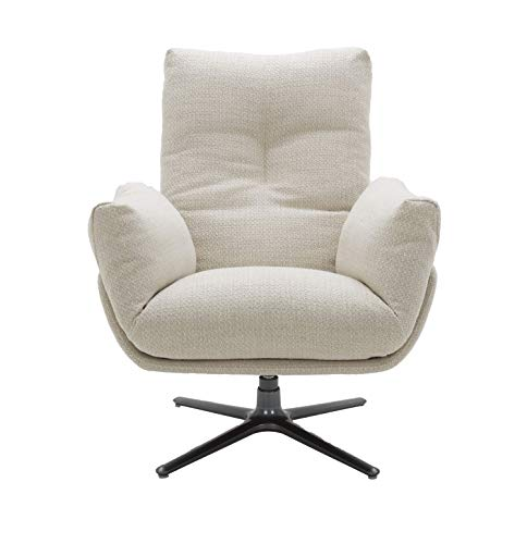 MND My New Design Sagas Beige Armchair, Comfort, Fashionable and Elegant, 360° Rotating Base, French Chic