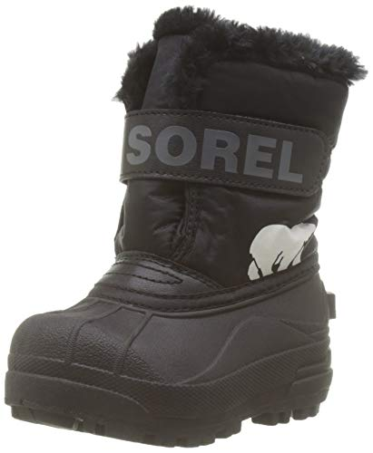Sorel Unisex Baby Toddler Snow Commander Stiefel, Schwarz (Black/Charcoal), 23 EU