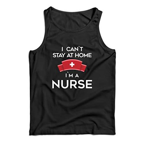 lepni.me Camisetas de Tirantes para Hombre No Puedo quedarme En casa Soy una Enfermera Frontliners Regalo de reconocimiento de Tributo (XX-Large Negro Multicolor)