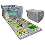 Embrace Play hot Wheels Garage | Matchbox Cars Storage case | car Rug Play mat | Toy car Storage | hot Wheels Storage | Collapsible Toy Box | Toy Box for Boys
