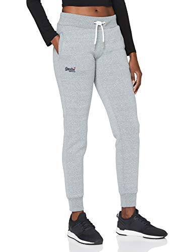 Superdry Womens ORANGE Label Jogger Sweatpants, Grey Snowy, M (Herstellergröße:12)