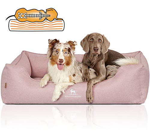 Knuffelwuff Orthopädisches Hundebett Luisa Hundekorb Hundesofa Hundekissen Hundekörbchen waschbar Rosa XL 105 x 75cm