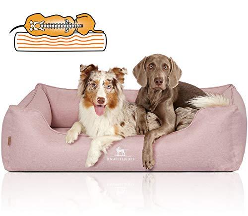 Knuffelwuff Orthopädisches Hundebett Luisa Hundekorb Hundesofa Hundekissen Hundekörbchen waschbar Rosa M-L 85 x 63cm