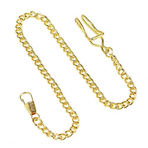 TREEWETO Taschenuhr Kette 14.7 inch (37.5 cm) Gold