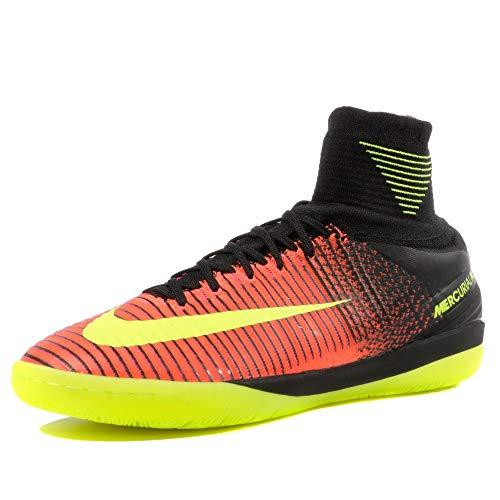 Nike Herren MercurialX Proximo II IC Fußballschuhe, Orange Karmesinrot (Total Crimson VLT Pnk BLST Blk), 40.5 EU