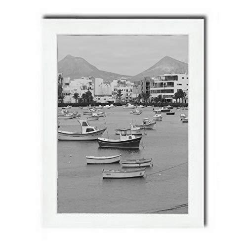 Bilderrahmen Fotorahmen 20x60 cm weiß bilderrahmen zum aufhängen MDF Picture Frames Farbe und 40 Verschiedene Größen wählbar ohne Passepartout Rahmen Aliyah