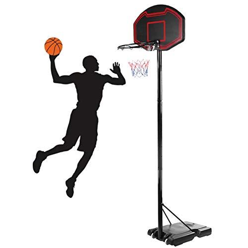AYNEFY Basketballkorb Mobiles Basketballständer Höhenverstellbar 230 bis 305 cm Basketball Backboard Hoop Ständer Set für Erwachsene Kinder, Outdoor Indoor, Schwarz