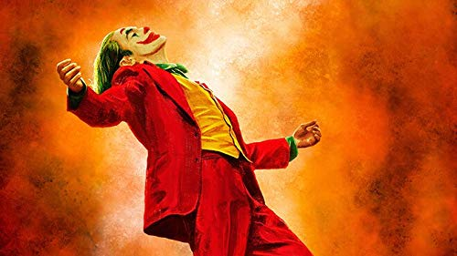 IHlXH Joker Wanddekor Malerei Film Porträt Poster und Druck Wandkunst Leinwand Malerei Joker Bilder für Wohnzimmer Home Decor NP371 50x90cm No Frame