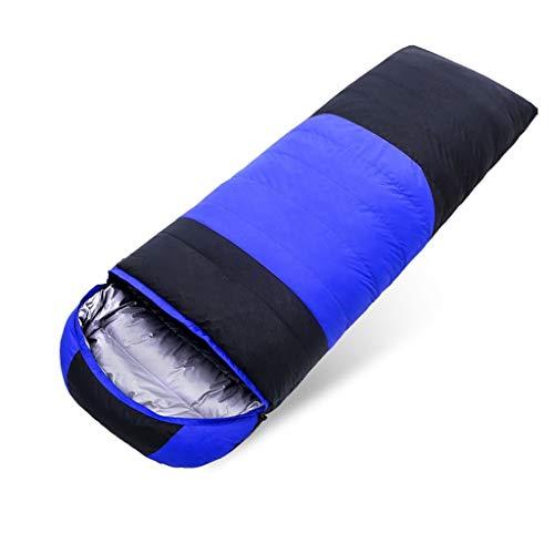 Durable et beau Sac de couchage Camping Voyage en plein air vers le bas coton Tissu en nylon épais chaud adulte Voyage intérieur respirant portable étanche Confortable et portable ( Color : A )