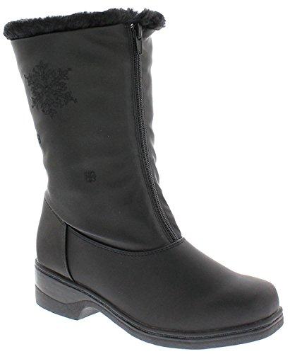 Boston Accent Snow Mid Calf Winter Boot, Black, Size-8 M US