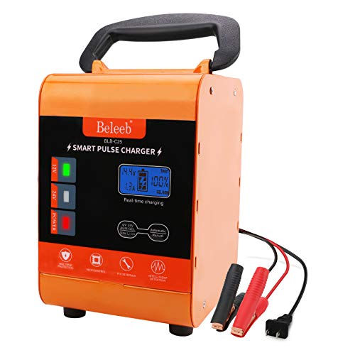 Beleeb Battery Charger Automotive 12V/20A 24V/10A Trickle Charger for Car Motorcycle Boat Marine Lawn Mower SLA ATV RV SUV Wet AGM Gel Cell Lead Acid Battery