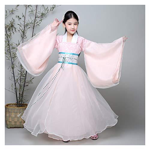 YUNGYE Disfraz de hada para nios de Han, disfraz antiguo, disfraz de princesa imperial concubina chino, color rosa, tamao: 150 cm