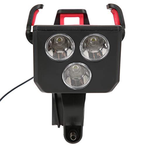 DyAn Luz para Bicicleta, Multifunción 4 En 1 Linterna para Bicicleta Soporte para Teléfono Bocina para Bicicleta Banco De Energía Luz Delantera para Bicicleta