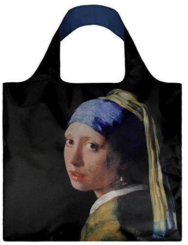 LOQI Museum Johannes Vermeers Mädchen mit Perlenohrringen, wiederverwendbare Einkaufstasche, mehrfarbig von LOQI