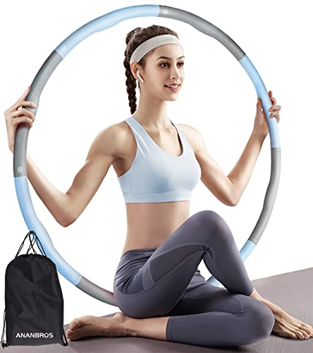 Neu 2021-Fitness Hula Hoop Reifen Erwachsene 1,2 kg, 74-97cm 8 Abnehmbare Segmente Hula-Hoop-Reifen, Smart Hula Hoop Zum Abnehmen für Anfänger,geeignet für Erwachsene und Kinder, Testsieger Hula Hoop