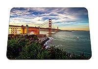 22cmx18cm マウスパッド (サンフランシスコアメリカ合衆国太平洋カリフォルニア州ヨット花) パターンカスタムの マウスパッド